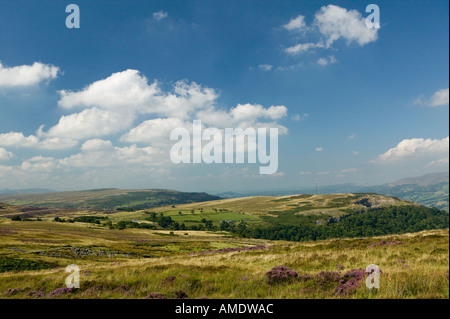Gilwern hill and Pwll Du from Keepers Pond Blorenge mountain Wales UK - Stock Photo