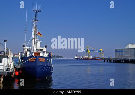 Wismar harbor Hafen - Stock Photo