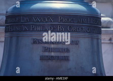 Inscription Liberty Bell  Washington DC - Stock Photo
