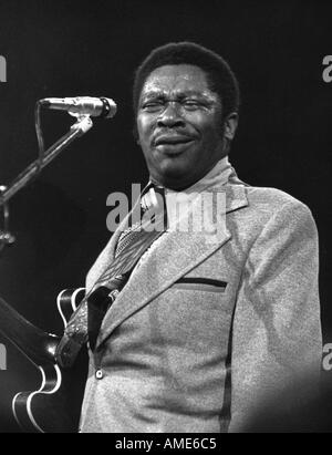 B B King Blues musician Born in 1925 in Indiana Miss Recorded via Memphis radio WDIA Photographed at the Sundown - Stock Photo