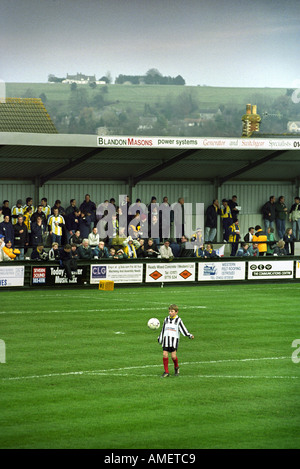 A MASCOT JUGGLES WITH THE BALL BEFORE A FA CUP FOOTBALL MATCH FOREST GREEN ROVERS V TORQUAY UNITED UK - Stock Photo
