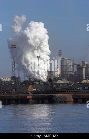Steel works at Teeside uk - Stock Photo