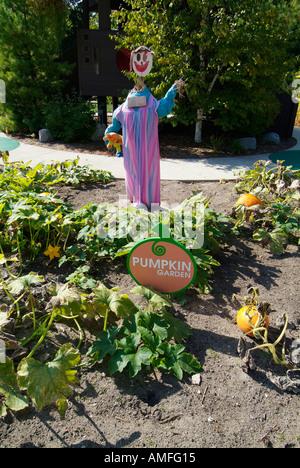 Scarecrow in vegetable garden Dow Gardens Midland Michigan Stock ...