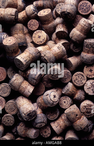Assorted champagne corks - Stock Photo