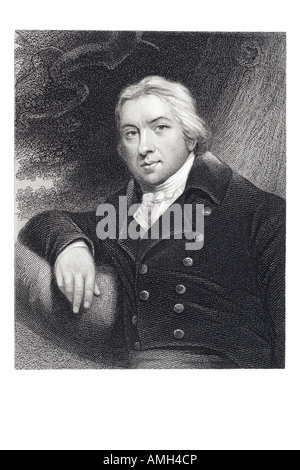EDWARD JENNER English surgeon Smallpox 1749 1823 discoverer vaccination health science medicine physician occupation - Stock Photo