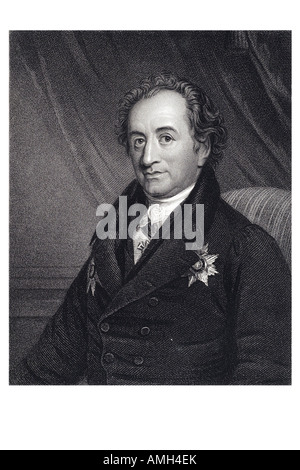 JOHANN WOLFGANG VON GOETHE German writer 1749 1832 poetry drama literature theology humanism science Faust Imperial - Stock Photo