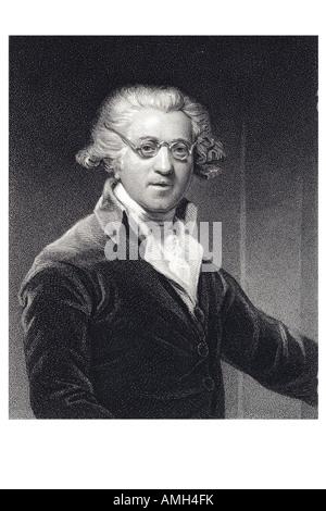 SIR JOSHUA REYNOLDS 1723 1792 English portrait painter aesthetician Grand Style idealisation imperfect first President - Stock Photo