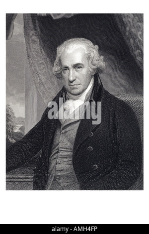 James Watt 1736 1819 British engineer inventor technology steam engine Scottish Industrial Revolution. Imperial - Stock Photo