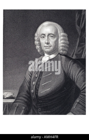 JOHN HARRISON 1693 1776 English horologist inventor maritime clock maker longitude chronometer  Imperial dictionary - Stock Photo