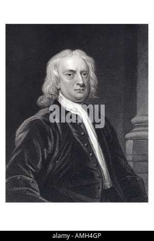 Sir Isaac Newton 1642 1727 English physicist, mathematician astronomer, natural philosopher alchemist theologian. - Stock Photo