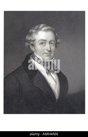 SIR ROBERT PEEL THE YOUNGER British statesman Prime Minister 1788 1850  Right Honourable 2nd Baronet founder Conservative - Stock Photo