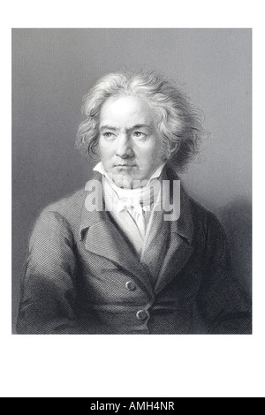 Ludwig Van Beethoven 1770 1827 Composer virtuoso pianist Classical Romantic respected influential composers hearing - Stock Photo