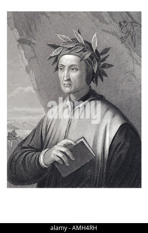 DANTE ALIGHIERI 1265 1321 Italian poet Florence florentine Divina Commedia divine greatest literary work language - Stock Photo