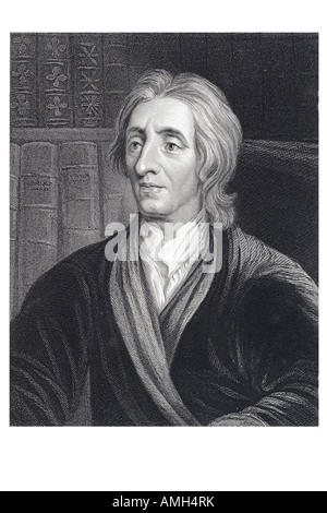 John Locke 1632  1704 English philosopher British Empiricists social contract theory nfluence epistemology political - Stock Photo