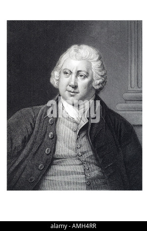 SIR RICHARD ARKWRIGHT 1732 to 1792 English industrialist inventor mechanical spinning frame water  cotton mill Cromford, - Stock Photo