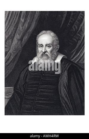 GALILEO GALILEI 1564 1642 Italian Tuscan mathematician astronomer physicist philosopher scientific revolution telescope - Stock Photo