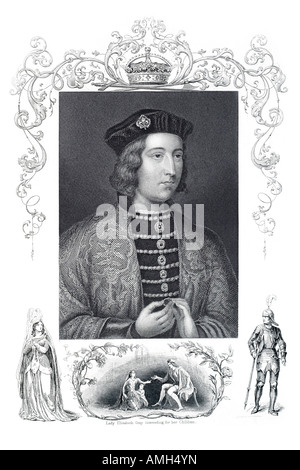 King Edward IV 1442 1483 King of England military commander never defeated field battle destroyed House Lancaster - Stock Photo