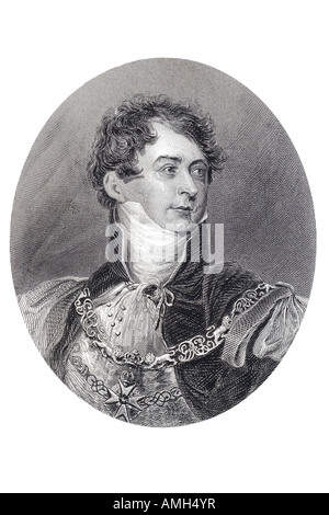 George Augustus Frederick IV King United Kingdom Great Britain Ireland Hanover 1762 1830 ruled Prince Regent Napoleonic - Stock Photo