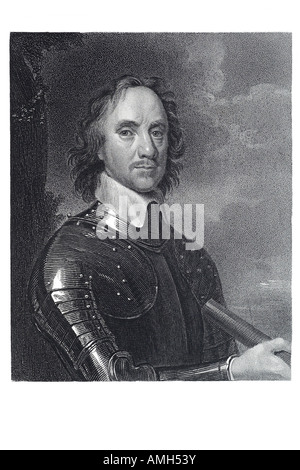 Oliver Cromwell 1599 1658 English soldier statesman Commander Chief Parliamentary forces military political leader - Stock Photo