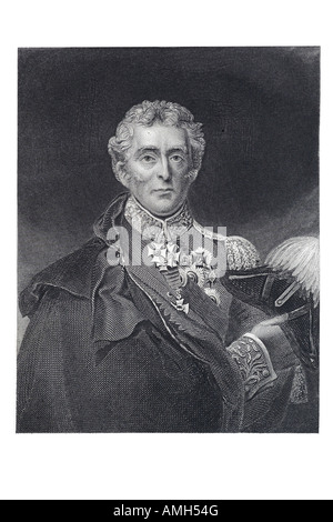 Arthur Wellesley 1st Duke of Wellington British soldier statesman 1769 1852 commanded victorious British forces - Stock Photo