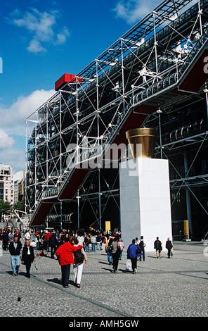 Pompidou Centre, Centre Georges Pompidou, Place Georges Pompidou, Paris, France - Stock Photo