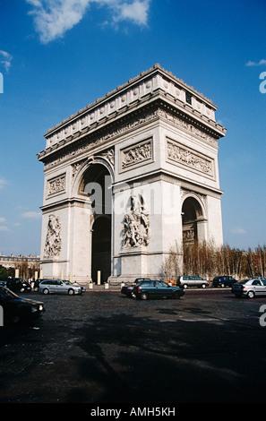 Arc de Triomphe, Place Charles de Gaulle, Paris, France - Stock Photo