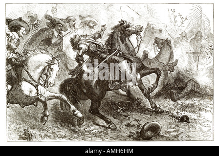 death of Lucius Cary, 2nd Viscount Falkland 1610 1643 First Battle  newbury English politician, soldier and author - Stock Photo