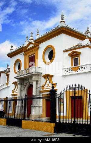 Entrance to the Bull Ring in Seville Spain - Stock Photo