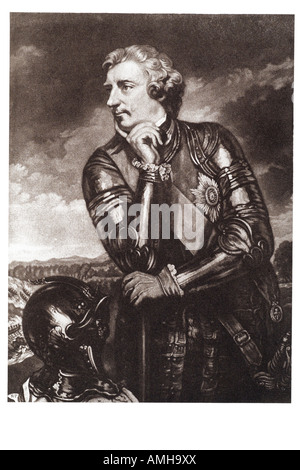 sir jeffery amherst 1st Baron Montreal KB Geoffrey Jeffrey 1717 1797 officer British Army Commander Chief Force - Stock Photo