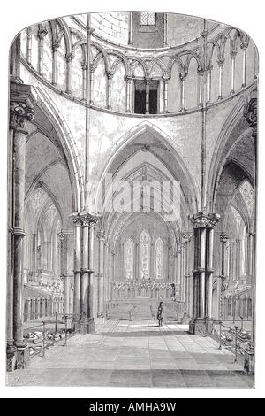 1870 temple church interior London City capital England English Britain British UK United Kingdom GB royal Greater - Stock Photo