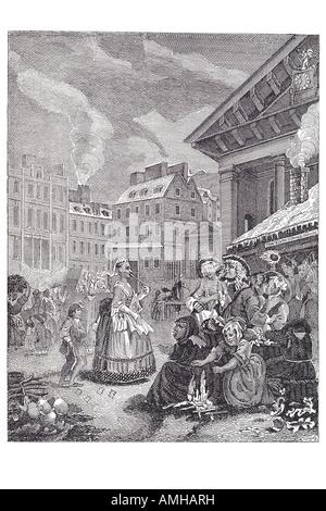 1738 morning covent garden hogarth London Greater capital city England English Britain British UK United Kingdom - Stock Photo