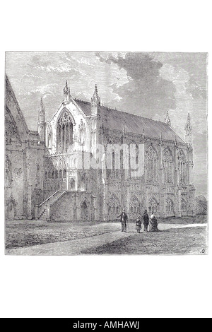 1830 st stephen chapel saint  Palace Westminster debating chamber House central London Greater capital city England - Stock Photo