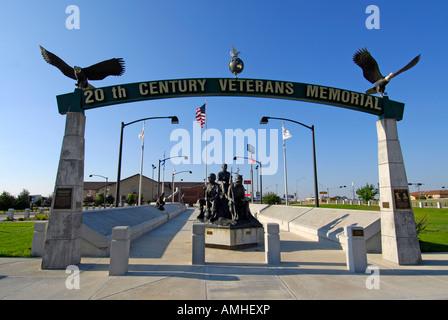 North Platte Nebraska NE 20th Century Veterans Memoral Park - Stock Photo