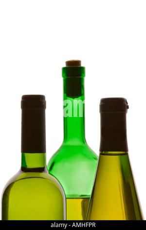 Three wine bottles - Stock Photo