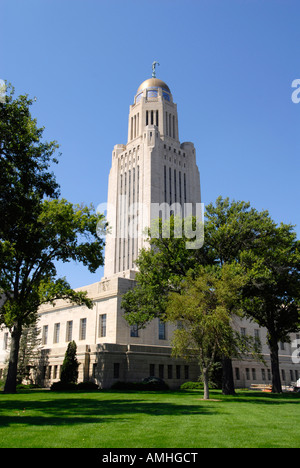 The State Capitol Building Lincoln Nebraska NE - Stock Photo