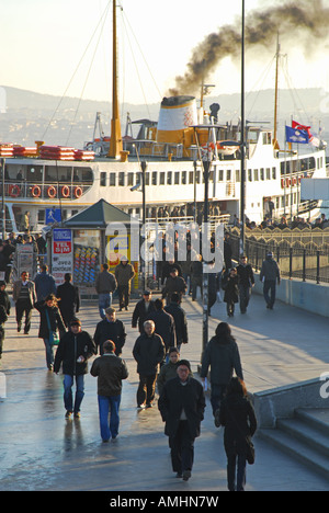 ISTANBUL Commuters on their way to work in Eminonu. 2007. - Stock Photo
