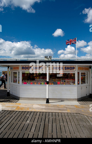 The rock shop on Brighton Pier Brighton East Sussex England UK - Stock Photo