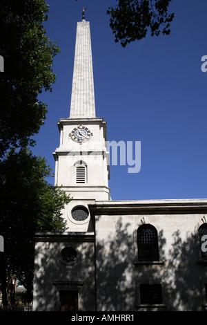 St Lukes church. Old Street, Hackney, London, England - Stock Photo