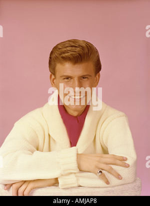 Bobby Rydell in publicity portrait 1959 61 - Stock Photo