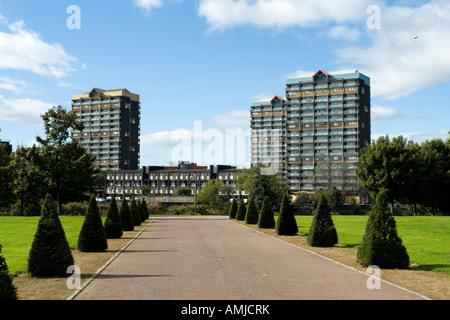 Gorbals boulevard Glasgow Green Scotland Europe - Stock Photo