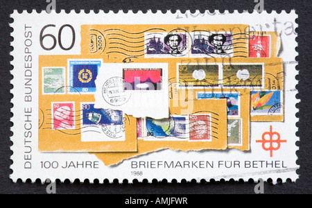 German postage stamp - Stock Photo