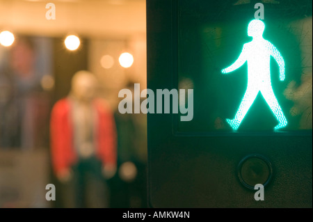 A pedestrian crossing in loughborough Leicestershire UK - Stock Photo
