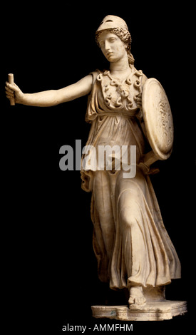 Athene Athena Minerva Greek greece rome roman goddess civilization wisdom weaving, crafts war technical knowledge - Stock Photo