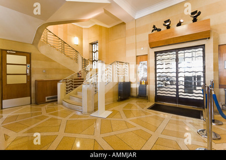 Art deco hallway stock photo alamy