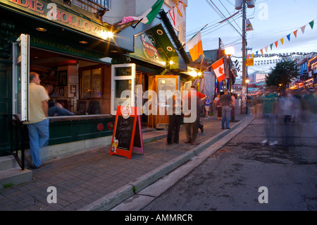 George Street Festival, an annual event held in George Street in downtown St John's, Newfoundland Labrador, Canada. - Stock Photo