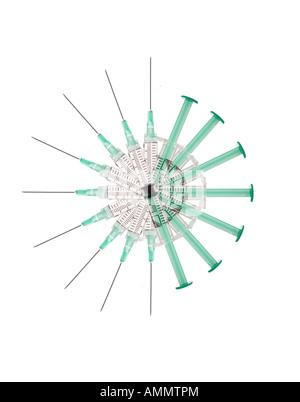 Circle of Syringes - Stock Photo