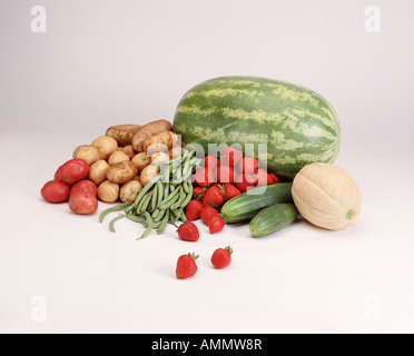 assorted grocery food items - Stock Photo