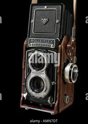 Rollieflex Rollei T with Compur Shutter and Light meter - Stock Photo