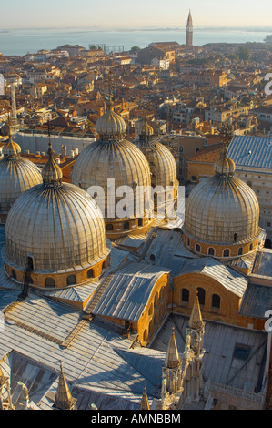 Venice Italy. Arial view of saint Mark's basilica - Stock Photo