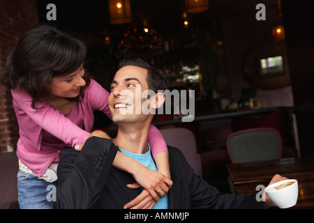 Couple in Cafe - Stock Photo